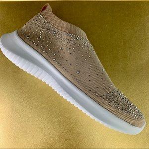 Blossom Serena-10 Slip-On Shoes With Rihnestones